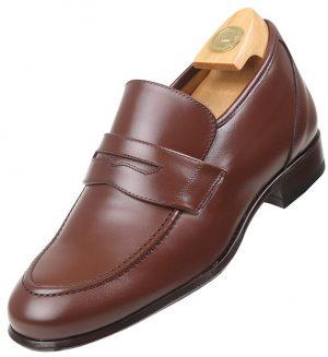 Footwear HiPlus 3506 M in boxcalf skin. Add 5 to 6 cm tall
