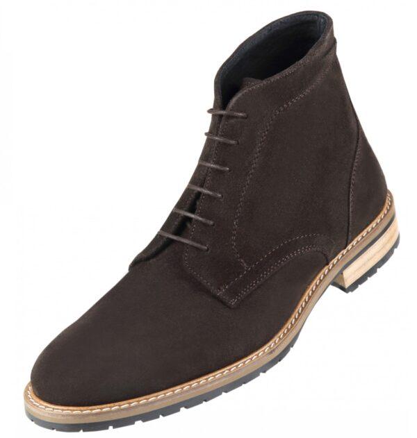 Footwear HiPlus S 7528 in split leather. Add 7 to 8 cm height
