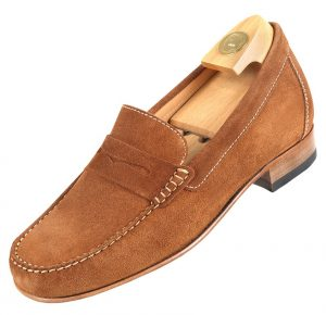 Footwear HiPlus 5010 M in split leather. Add 6 to 7 cm height