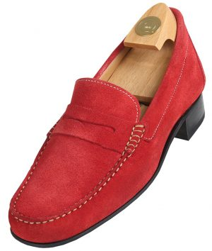 Footwear HiPlus R 5010 in split leather. Add 6 to 7 cm height