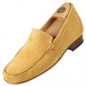 Footwear HiPlus 5014 D in split leather. Add 6 to 7 cm height