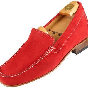 Footwear HiPlus R 5014 in split leather. Add 6 to 7 cm height