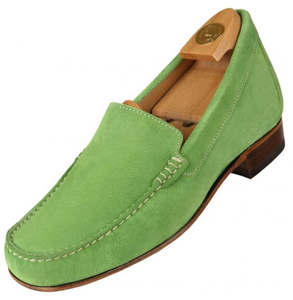 5014 V HiPlus shoes in suede leather. Add 6 to 7 cm height