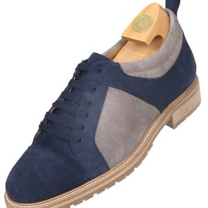 HiPlus 7034 AMc shoes in suede leather. Add 7 to 8 cm height
