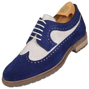 7521 HiPlus footwear in split leather Az. Add 7 to 8 cm height