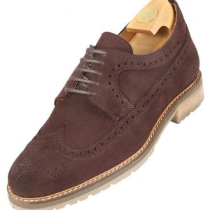 Footwear HiPlus 7521 M in split leather. Add 7 to 8 cm height