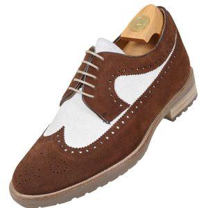 Footwear HiPlus S 7521 in split leather. Add 7 to 8 cm height
