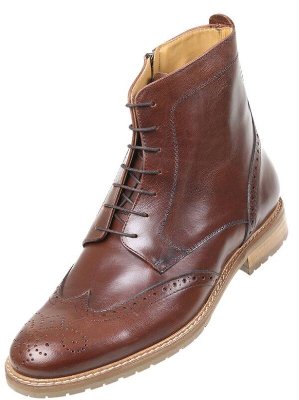 Footwear HiPlus 7527 M in boxcalf skin. Add 9 to 10 cm height