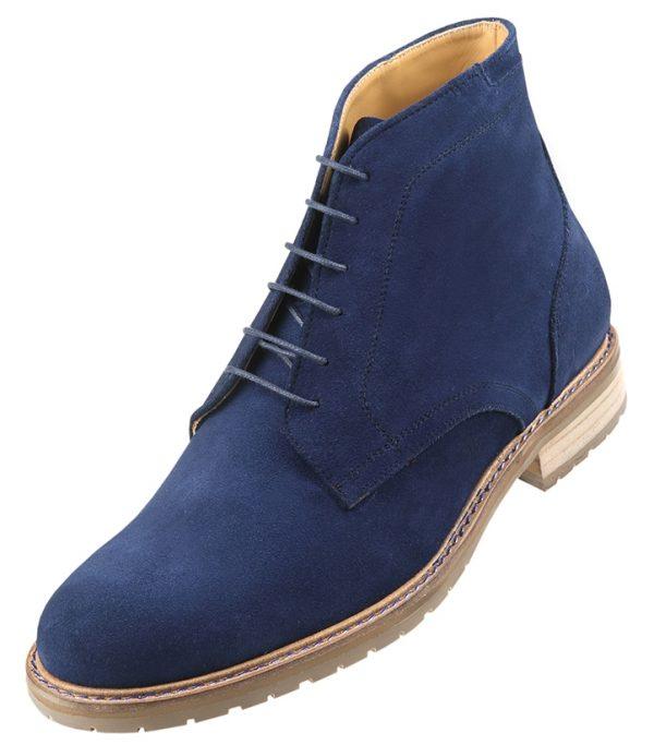 Footwear HiPlus 7528 AM in split leather. Add 7 to 8 cm height