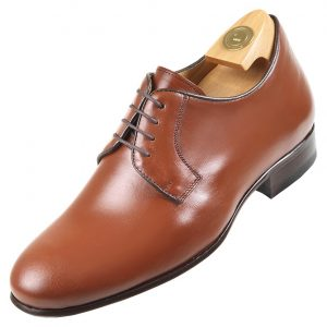 HiPlus shoes in brown boxcalf 7530 MC. Add 6 to 7 cm height