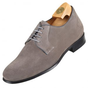 HiPlus 7530 G shoes in gray suede. Add 6 to 7 cm height