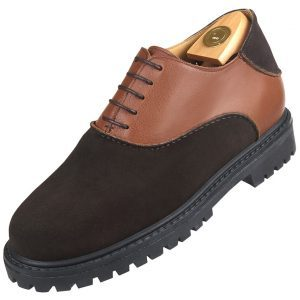 Footwear HiPlus 9034 A split leather skin. Add 7 to 8 cm height