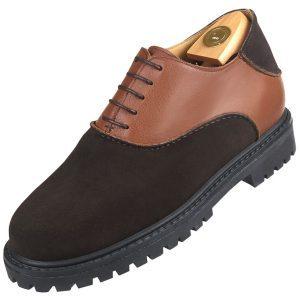 Footwear HiPlus 9034 A split leather skin. Add 7 to 8 cm height