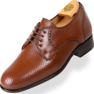 Shoes HiPlus 7019 MP in tafilete skin. Add 6 to 7 cm height