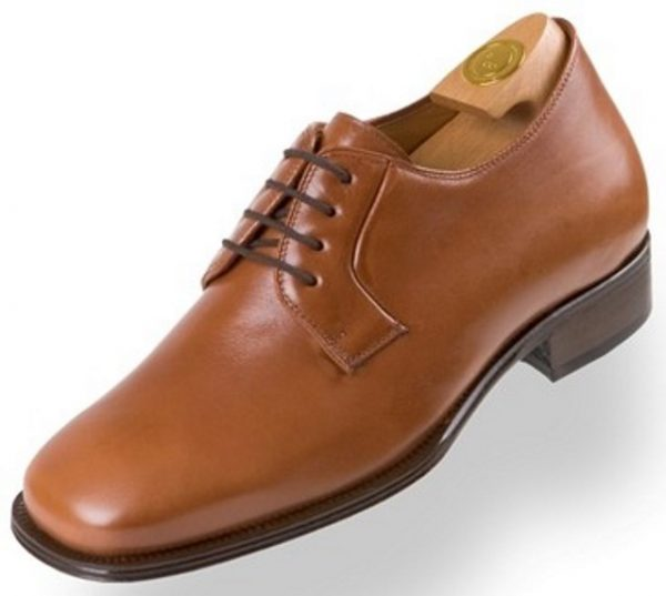 Elevator shoes HiPlus 8130 M boxcalf brown skin