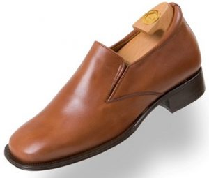 Elevator shoes HiPlus 8140 M boxcalf brown skin lining calf leather sole sewn. Add 7-8 cm +.